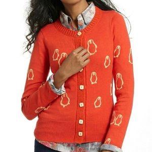 Adorable Anthropologie Orange Penguin Sweater